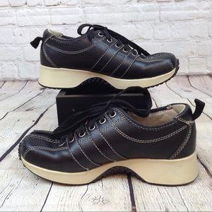 Steve Madden black platform bowling shoes